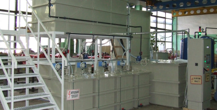 EQUIPMENT FOR SEWAGE TREATMENT OF PLATING PRODUCTION