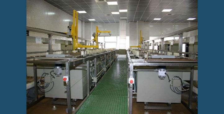 Chemical plating metallization module